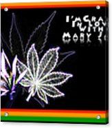I'm Crazy In Love With Mary Jane Acrylic Print