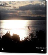 Image Included In Queen The Novel - Lighthouse Contrast Acrylic Print