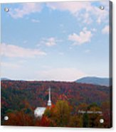 Image Included In Queen The Novel - New England Church Enhanced Acrylic Print
