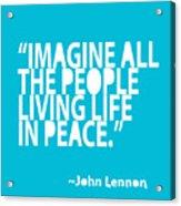 Imagine In Blue Acrylic Print