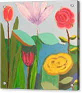 Imagined Flowers One Acrylic Print