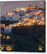 Imerovigli After Sunset, Santorini Acrylic Print