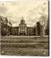 Immaculata University In Black And White Acrylic Print