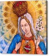Immaculate Heart Of Virgin Mary Acrylic Print