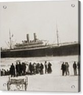 Immigrant Ship From Italy, The Princess Acrylic Print by Everett