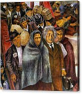 Immigrants, Nyc, 1937-38 Acrylic Print