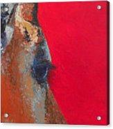 Impala On Crimson Close-up Acrylic Print