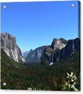 Imposing Alpine World - Yosemite Valley Acrylic Print