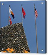 Imposing Flags Acrylic Print