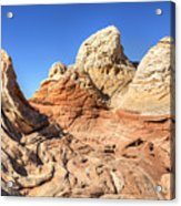 Impossible Rock Formations In The White Pocket Acrylic Print