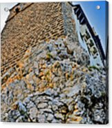 Impregnable Wall. Bran Castle - Dracula's Castle. Acrylic Print