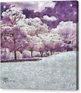 Impresionist Garden Acrylic Print