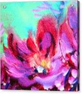 Impressionism Flowers Acrylic Print