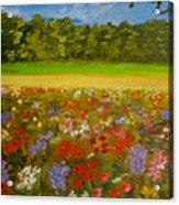 Impressionism Flowers- Pretty Posies Acrylic Print