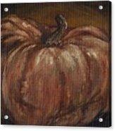 Impressionist Autumn Pumpkin Acrylic Print