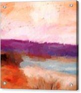 Impressionist Beach Scene Acrylic Print