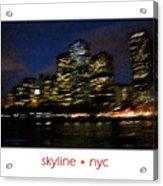 Impressionist Skyline New York City Acrylic Print