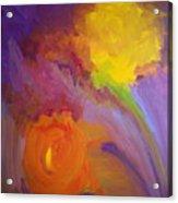 Impressionistic Flowers Acrylic Print