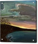 Impressionistic Twilight Acrylic Print