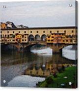 Impressions Of Florence - Ponte Vecchio Autumn Acrylic Print