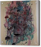 Improvisation Two Acrylic Print by Edward Wolverton