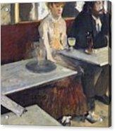 In A Cafe Acrylic Print by Edgar Degas