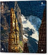 In A High Place Impasto Acrylic Print