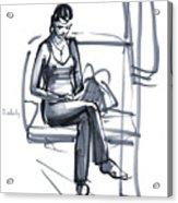 In A Train Acrylic Print