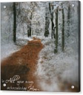 In All Your Ways Acrylic Print