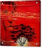In An Arfican Sunset Acrylic Print
