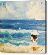 In Awe Of The Ocean Acrylic Print