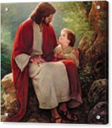 In His Light Acrylic Print by Greg Olsen