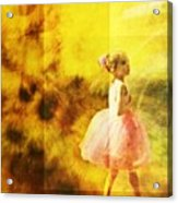 In My Pink Tutu Acrylic Print