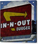 In-n-out Acrylic Print by Ricky Barnard