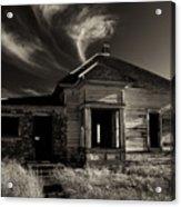 In Ruin Acrylic Print by Mike  Dawson