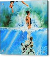 In Sync Acrylic Print by Hanne Lore Koehler