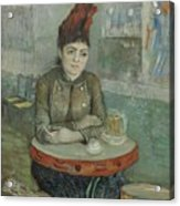 In The Cafe  Agostina Segatori In Le Tambourin Paris January  March 1887 Vincent Van Gogh 1853  Acrylic Print