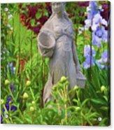 In The Flower Garden Acrylic Print