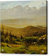 In The Foothills Of The Rockies Acrylic Print by Albert Bierstadt