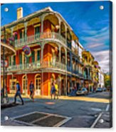 In The French Quarter - 2 Paint Acrylic Print