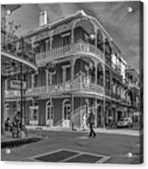 In The French Quarter - 3 Bw Acrylic Print