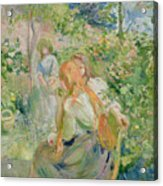 In The Garden At Roche Plate Acrylic Print by Berthe Morisot