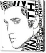 In The Ghetto Elvis Wordart Acrylic Print
