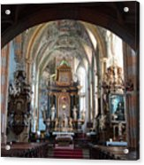 In The Gothic-baroque Church Acrylic Print