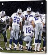 In The Huddle Acrylic Print by Carrie OBrien Sibley