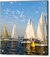 In The Lead At The Pin Acrylic Print