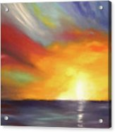 In The Moment - Vertical Sunset Acrylic Print