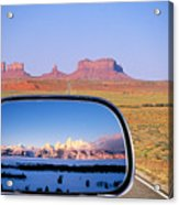 In The Rear View Mirror 2 Acrylic Print
