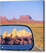 In The Rear View Mirror Acrylic Print