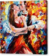In The Rhythm Of Tango 2 - Palette Knife Oil Painting On Canvas By Leonid Afremov Acrylic Print